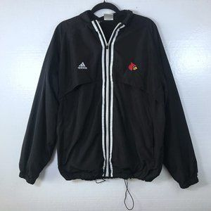 Louisville Cardinals Adidas L Windbreaker Jacket